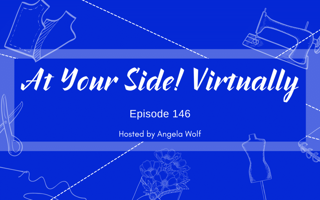 Episode 146: At Your Side 🧵 Virtually! Couching in Embroidery and Sewing