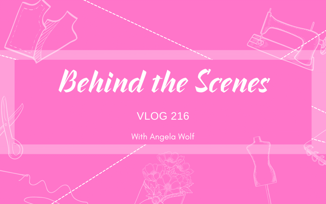 VLOG 216 Behind the Scenes with Angela Wolf – Refashion a Sweater & Fix a Jean Fly Zipper